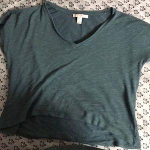 Blue green forever 21 v - neck shirt